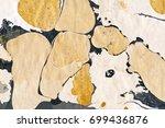 golden marble wallpaper. ink... | Shutterstock . vector #699436876