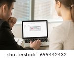 computer error in office ... | Shutterstock . vector #699442432