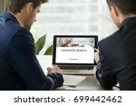 two employers look for... | Shutterstock . vector #699442462