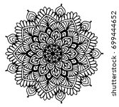 mandalas for coloring book.... | Shutterstock .eps vector #699444652