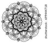 mandalas for coloring book.... | Shutterstock .eps vector #699444718