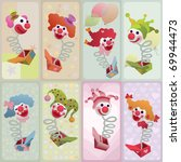 set of vector cards   jack in... | Shutterstock .eps vector #69944473