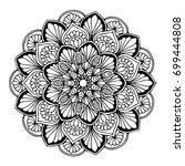 mandalas for coloring book.... | Shutterstock .eps vector #699444808