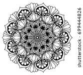 mandalas for coloring book....   Shutterstock .eps vector #699444826