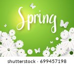 spring graphic design with... | Shutterstock .eps vector #699457198