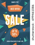best offer sale flyer | Shutterstock .eps vector #699461086