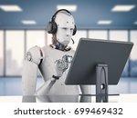 3d rendering humanoid robot... | Shutterstock . vector #699469432