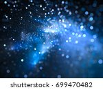 blue glowing nebula with stars... | Shutterstock . vector #699470482
