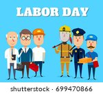 labor day. people of different... | Shutterstock .eps vector #699470866