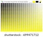 color palette mixer 3 color ... | Shutterstock .eps vector #699471712