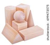 the wooden figure geometric... | Shutterstock . vector #699473575