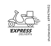 express delivery icon concept.... | Shutterstock .eps vector #699479452