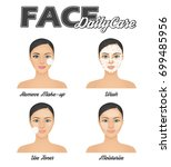 face daily care routine... | Shutterstock .eps vector #699485956