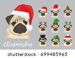 christmas festive collection of ... | Shutterstock .eps vector #699485965