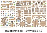 vector set of office. people at ... | Shutterstock .eps vector #699488842