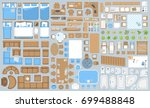 icons set of interior....   Shutterstock .eps vector #699488848
