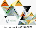 triangular low poly vector a4... | Shutterstock .eps vector #699488872