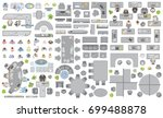 vector set of office. people at ... | Shutterstock .eps vector #699488878