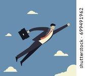 business concept of businessman ... | Shutterstock .eps vector #699491962
