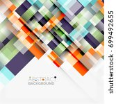 abstract blocks template design ...   Shutterstock . vector #699492655