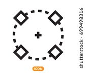 symbol of object. vector icon... | Shutterstock .eps vector #699498316