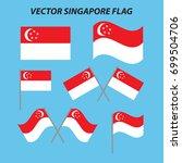 vector singapore flag | Shutterstock .eps vector #699504706