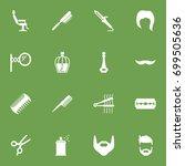 set of 16 hairdresser icons set.... | Shutterstock .eps vector #699505636