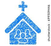 grunge church people icon with... | Shutterstock .eps vector #699509446