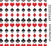 playing card set symbol clubs... | Shutterstock .eps vector #699510232