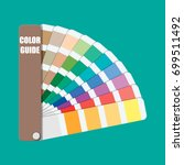 color swatch. color palette... | Shutterstock .eps vector #699511492