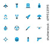 combat colorful icons set.... | Shutterstock .eps vector #699513595