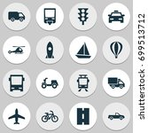 shipment icons set. collection... | Shutterstock .eps vector #699513712
