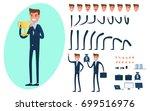 businessman character creation... | Shutterstock .eps vector #699516976