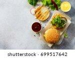 a delicious fresh homemade... | Shutterstock . vector #699517642
