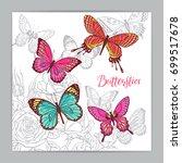 beautiful background of...   Shutterstock .eps vector #699517678