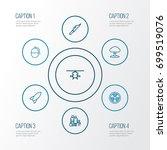 warfare outline icons set.... | Shutterstock .eps vector #699519076