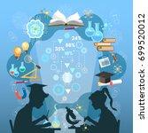 education infographic.... | Shutterstock .eps vector #699520012