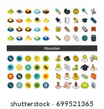 set of icons in different style ... | Shutterstock .eps vector #699521365
