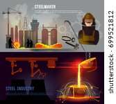 steel industry banner  iron and ... | Shutterstock .eps vector #699521812