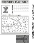 preschool education. puzzle for ... | Shutterstock .eps vector #699525862
