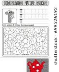 preschool education. puzzle for ... | Shutterstock .eps vector #699526192