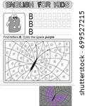 preschool education. puzzle for ... | Shutterstock .eps vector #699527215