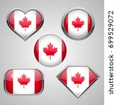canada flag icon theme | Shutterstock . vector #699529072