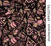 retro geometric  shapes... | Shutterstock .eps vector #699532792