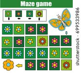 maze children game  help the... | Shutterstock .eps vector #699533986