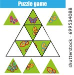 puzzle kids activity. matching... | Shutterstock .eps vector #699534088
