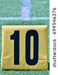 Small photo of 10 yard line marker on football field