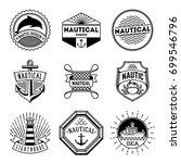 simple mono lines logos... | Shutterstock .eps vector #699546796