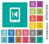 mobile media previous multi... | Shutterstock .eps vector #699547606