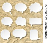 speech bubble set | Shutterstock . vector #699553072